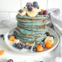 Blue Buckwheat Pancakes
