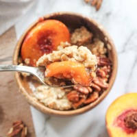 Caramelized Peach and Pecan Oatmeal