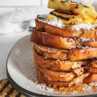 Grilled Piña (Colada) French Toast